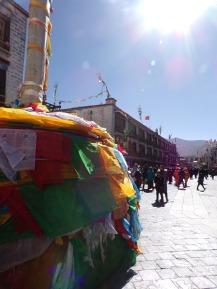 Prayer flags on Barkhor Street