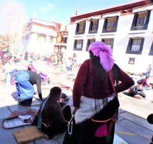 Tibetan women and awesome braids