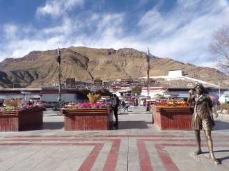 View of Tashi Lhunpo from the People's Square