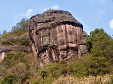 "Named ""The General's Rock"" because it looks like a man wearing a helment."