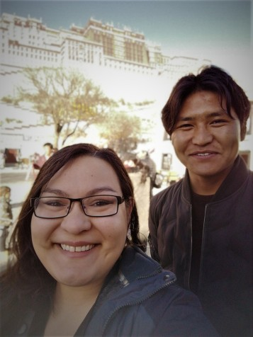 Gelek and I infront of Potala Palace
