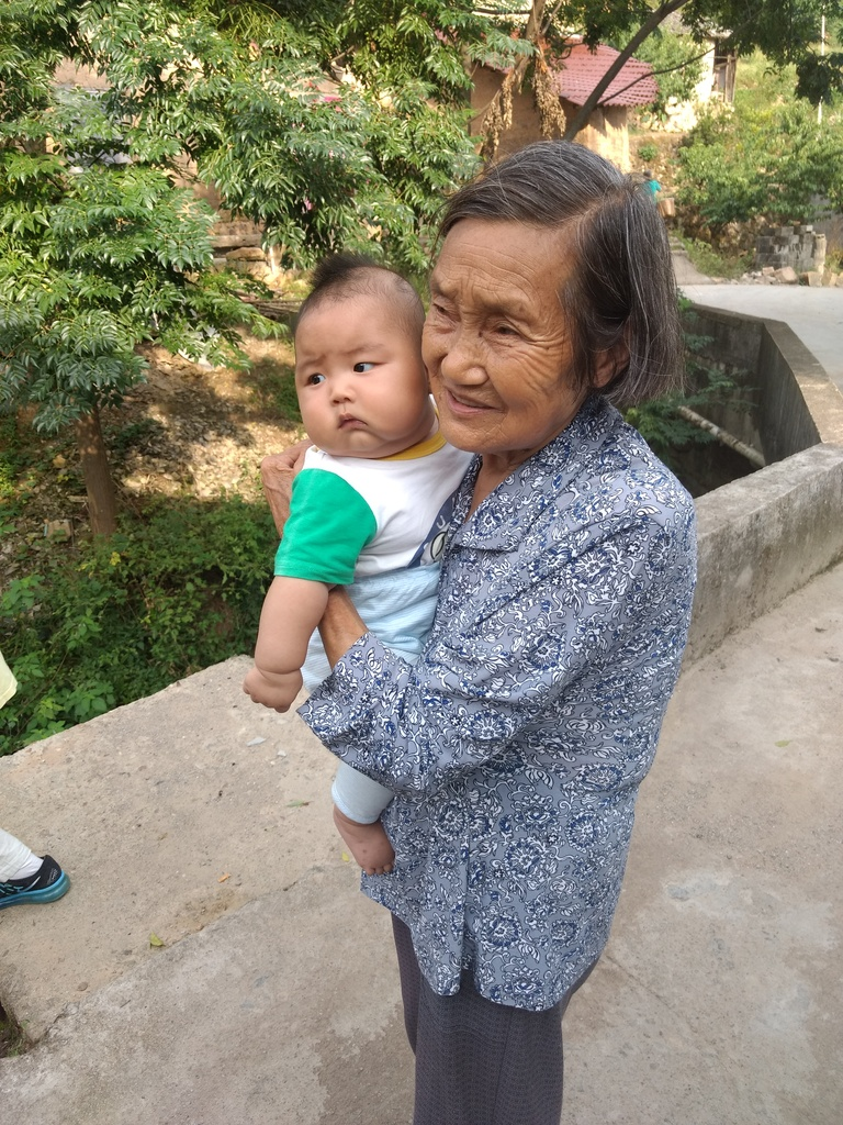 Cute baby and grandma