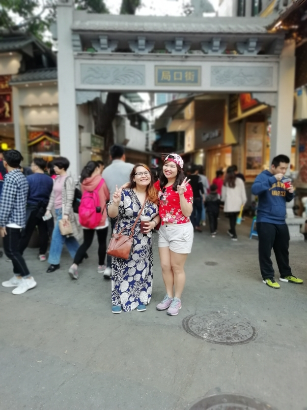 Carol and I at walking street gate