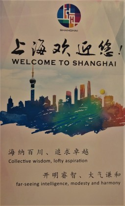 Welcome to Shanghai sign at the airport