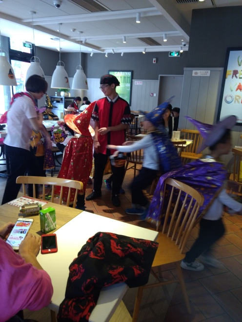 Witchy party in kfc