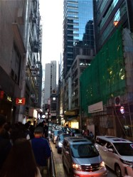 Crowds in Hong Kong Island